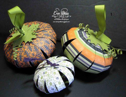 Paper Pumpkin Trio