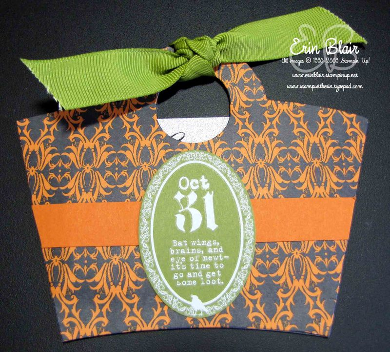 Halloween Gift Card Holder