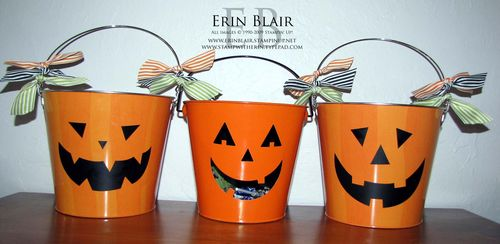 Decor Elements Pumpkin Buckets